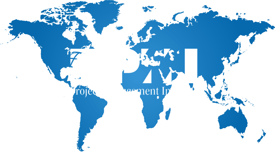 World Map with PMI logo