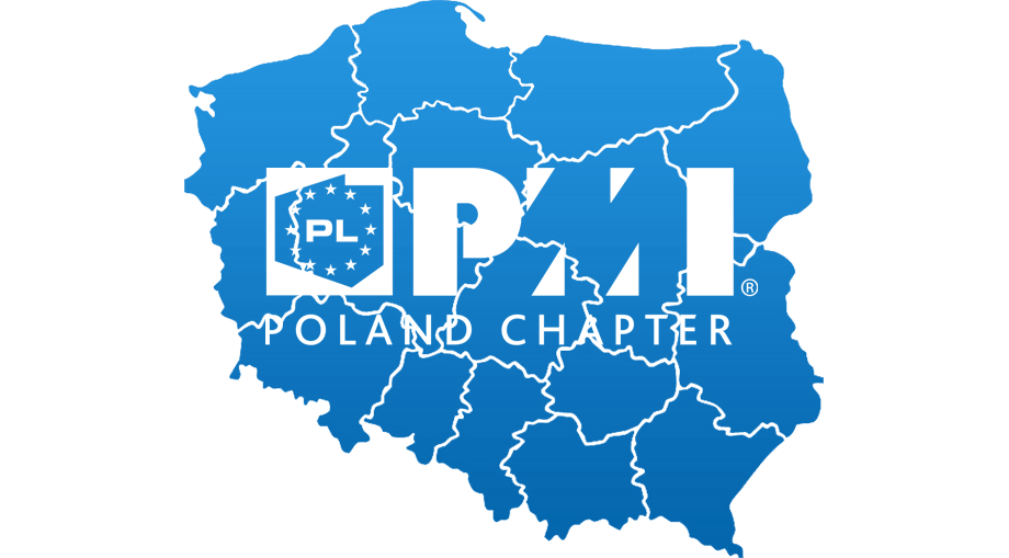 Poland Map with PMI Poland Chapter logo